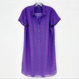 Tommy Hilfiger Purple Polo Silky Feel Dress Large